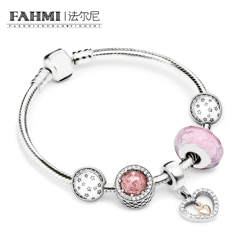 FAHMI 100% 925 Sterling Silver Brand New 1:1 Heart and Soul, Telling The Whole Life Love Bracelet Set Womens Charming GiftFAHMI 100% 925 Sterling Silver Brand New 1:1 Heart and Soul, Telling The Whole Life Love Bracelet Set Womens Charming Gift