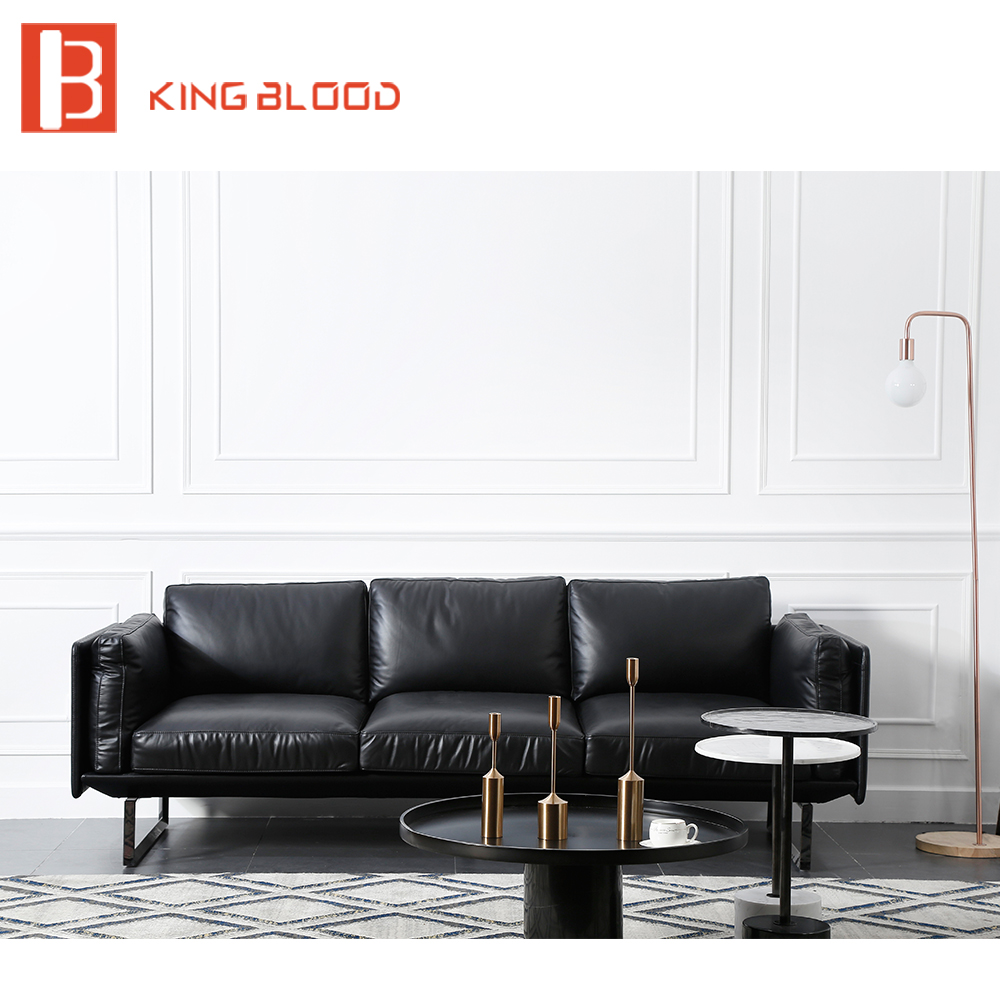 US $1168.0 |Black color italy Nappa leather modern leather sofa living room  furniture-in Living Room Sofas from Furniture on Aliexpress.com | Alibaba  ...