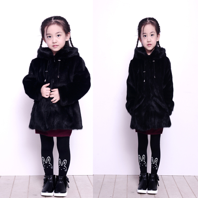 Cheap 2016 new winter jacket water mink fur coat male and female children's jacket jacket warm thickening baby coat