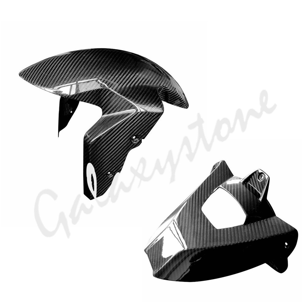 Real 100% Carbon Fiber for BMW S1000RR 2009-2017 S1000R HP4 Front Fender & Rear fender fender champion 100