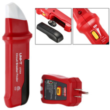 цена на UNI-T UT25A Circuit Breaker Finder Fuse Socket Tester Electrician Diagnostic  tool with LED New