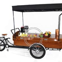 10-15 km/h Vintage café bicicleta tipo Triciclo de carga calle comida carro bicicleta