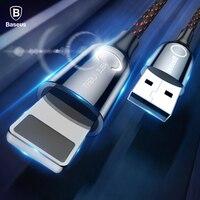 Intelligent Power off Cabo de Carregamento USB para o iphone X 8 6 respiração iluminação USB Cabo do Carregador do poder-fora Automático cabo