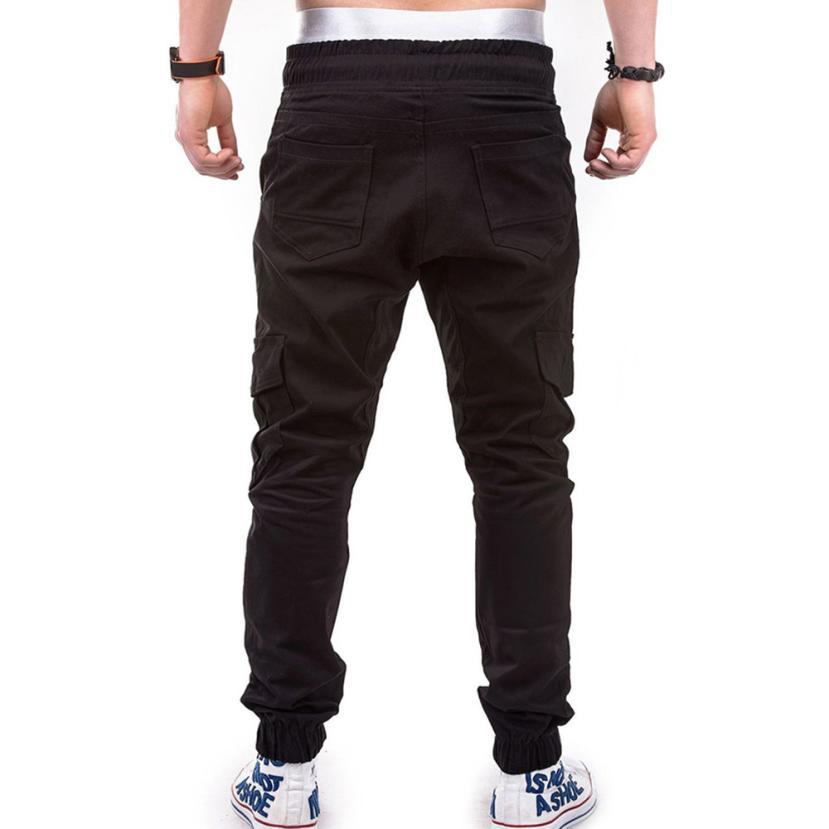 HTB10wF ChSYBuNjSsphq6zGvVXa6 Men's Pants 2018 Fashion Men's Pure Color Bandage Casual Loose Sweatpants Drawstring Pant       july22