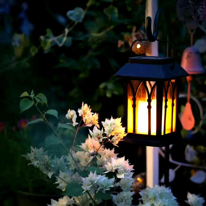 Vintage LED Solar Lantern Lights Outdoor Hanging Light Candle Lantern Solar Powered Garden Lamp For Garden Lawn Patio цены