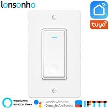Lonsonho Wifi Smart Switch US Wall Tuya Life App Wireless Remote Control Works With Alexa Google Home Mini IFTTT