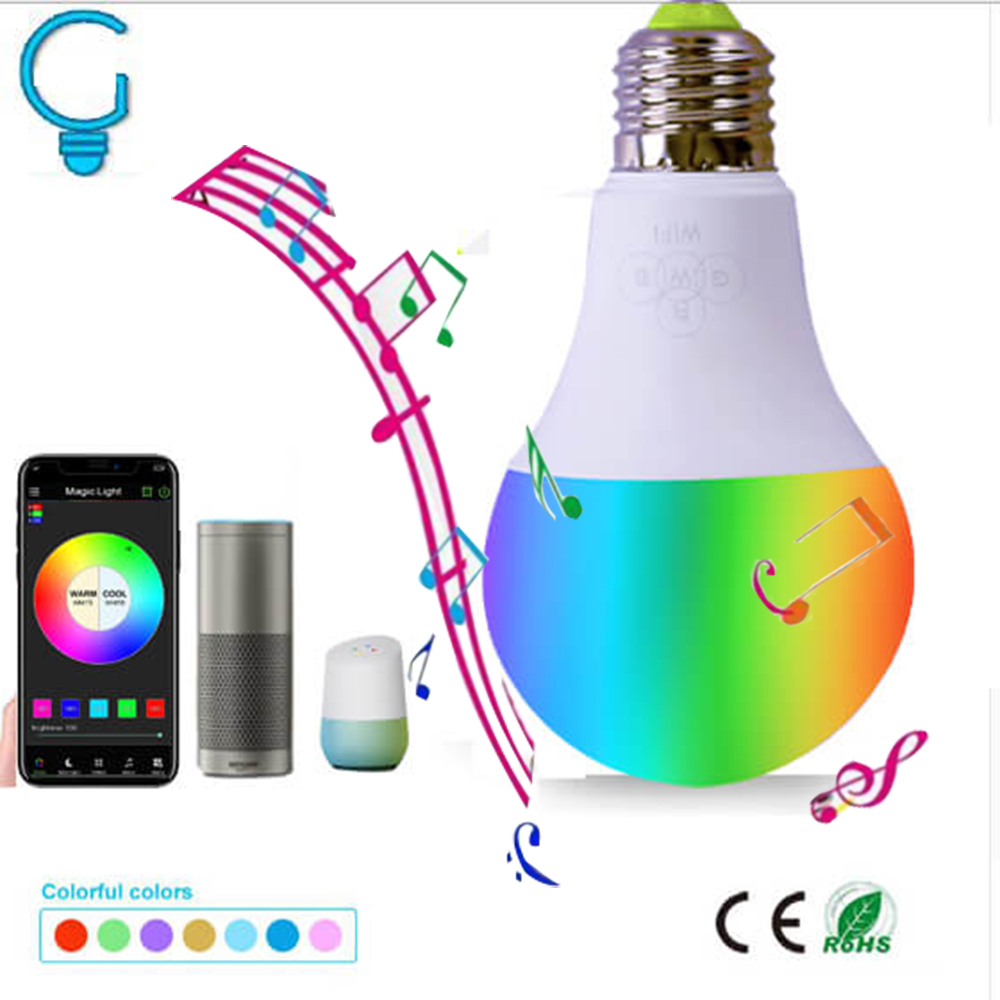 2-pack Home Smart Bulb RGBW Dimmable APP Control WiFi Bulb Lamp 60W Equivalent E27 Music Bulb Alexa/Google Home Voice Control frankever smart products wifi voice control discolourable bulb for bedroom club compatible with alexa google home