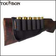 Tourbon-Hunting-Gun-Accessories-Top-Quality-Buttstock-12-Gauge-Shotgun-Ammo-Cartridge-Holder-Black-Color-For