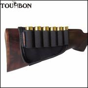 Tourbon-Hunting-Gun-Accessories-Top-Quality-Buttstock-12-Gauge-Shotgun-Ammo-Cartridge-Holder-Black-Color-For