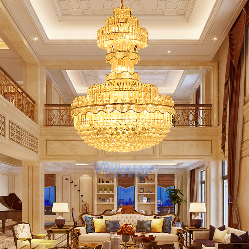 American Crystal Chandelier LED Lights Modern Crystal Chandeliers Lighting Fixture Luxury Big Long Home Indoor Lighting New