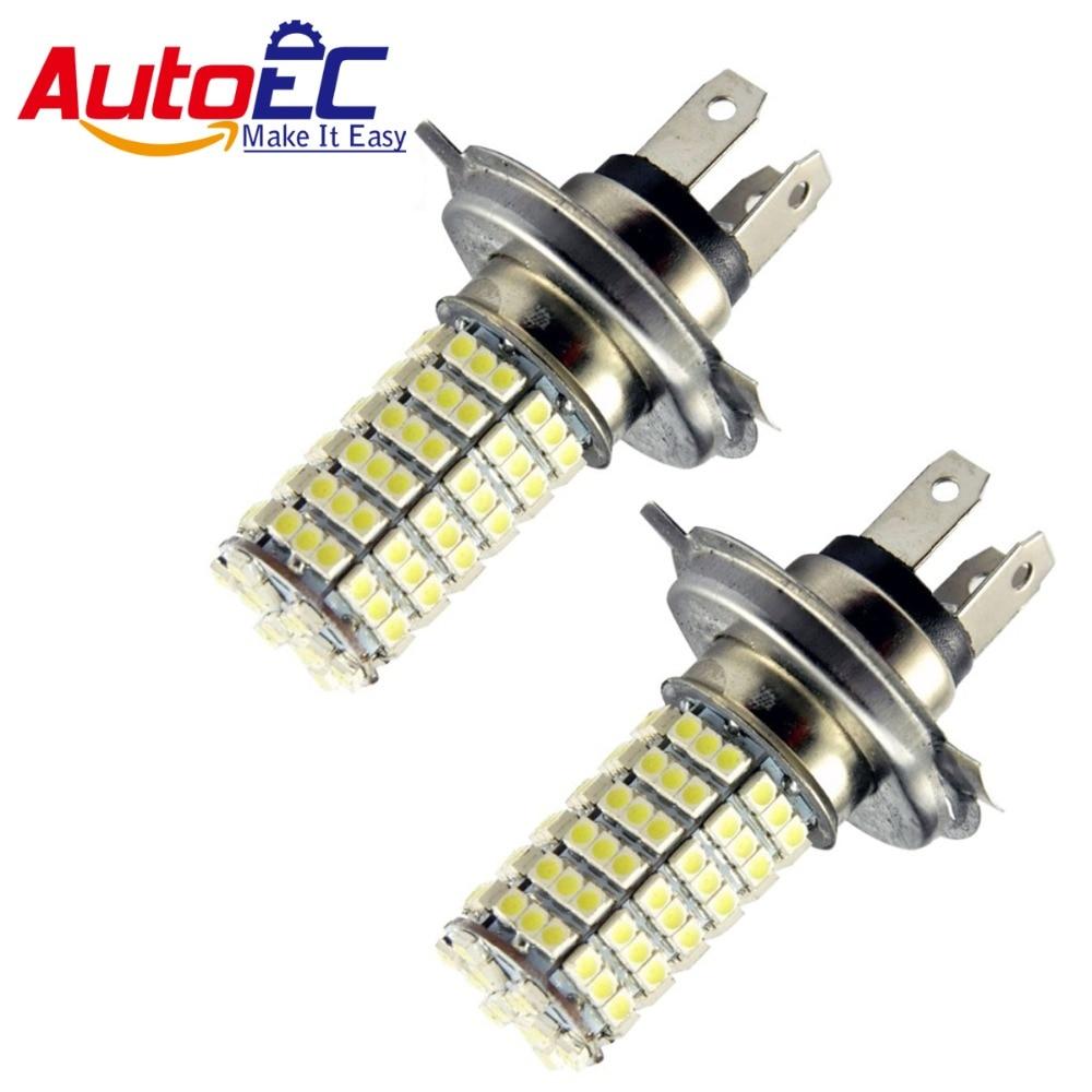 AutoEC 2x H4 120 SMD 1210 3528 LED Super Bright Car Fog Headlight Day Running Main Beam Light Bulb Lamp 12V Lights#LJ17