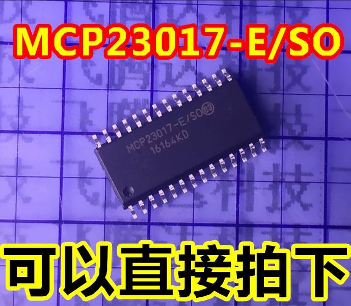 5pcs/lot MCP23017-E/SO MCP23017 original SOP 16-Bit I/O Expander with Serial