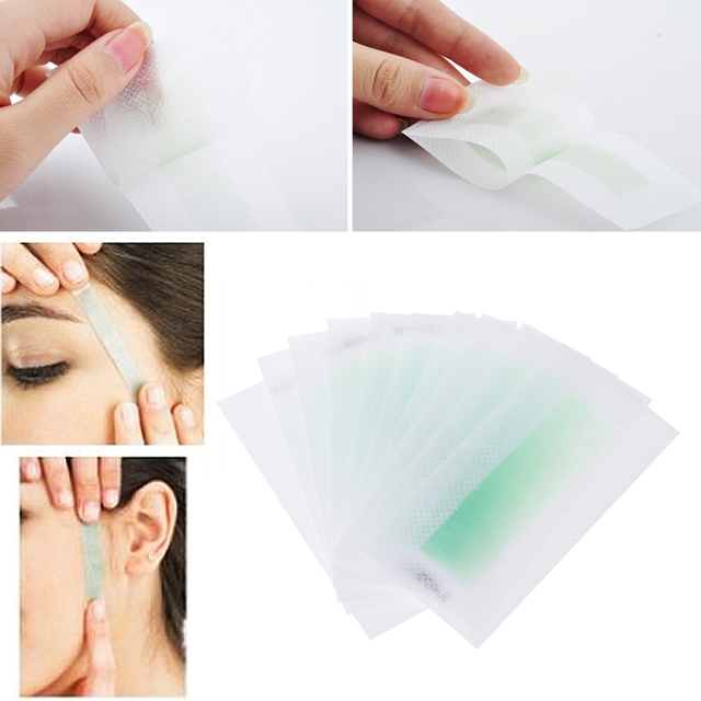 10x Hair Removal Depilatory Epilator Cold Wax Strips Paper Pad For Face Nonwoven