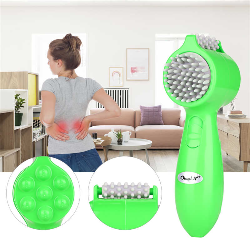 USB Electric Handheld Massager Vibrating Roller Wheel Relax