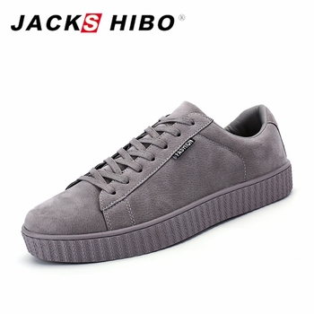 JACKSHIBO Brand Men Urban Casual Shoes 2017 Spring Autumn New Trend Man Shoes Soft Breathable Nubuck Mens Shoes Casual Footwear slip-on shoe