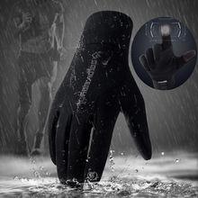Ski Gloves Cycling Full Finger Skiing Men Women Fleece Hiking Waterproof Screen Touch Motorcycling Glove