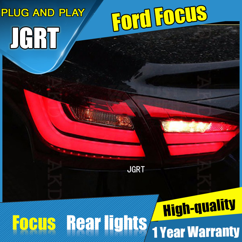 4PCS Car Styling for Ford Focus Taillights 2012-2014 for Focus LED Tail Lamp+Turn Signal+Brake+Reverse LED light boomboost 2 pcs car led for ford new focus 2012 2014 daytiime running lights car styling
