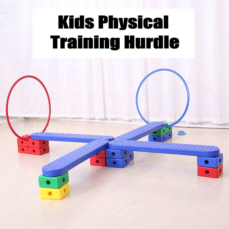Kids Physical Training Hurdles with Bag, Balance and Eye Coordination Toy Training Tool for Children, Training Equipments 114pcs