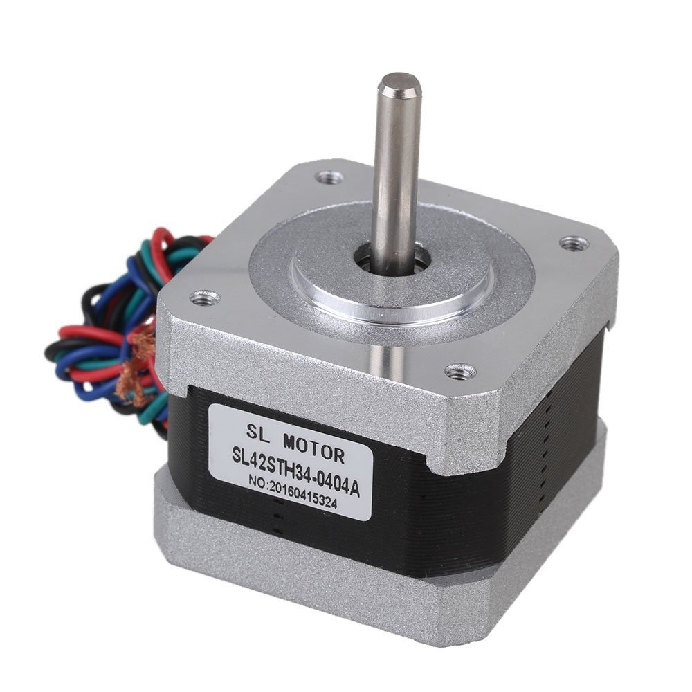 3pcs Silver 42mm Bipolar SL42STH34-0404A Stepping Motor DC12V 0.4A Two-Phase Stepper Motors with 4-lead Cable