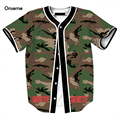 Mens Hip Hop Army Green Camo Baseball Jersey Streetwear Cool Off White t shirt tee Male Harajuku shirt Casual t shirts tees