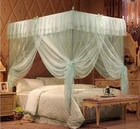 Creative Bed Canopy Palace Mosquito Net Three Open Door Stainless Steel Landing Frame Nets Mosquitera Cama