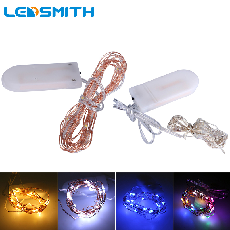 10tk / partii Micro Led Fairy Lights CR2032 Nupu Aku 2M 20 LED-i Vask - Puhkusevalgustus - Foto 1