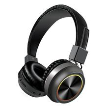 Bluetooth Headphones LED Colorful Foldable Wireless Stereo Card Long Standby Sports Headset With Microphone Phone Accessories