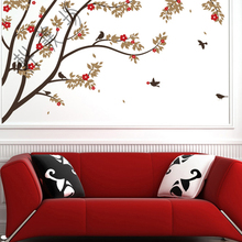Free Shipping Romantic Bedroom Wall Stickers Wall Sticker TV Wall Sofa Bed  Living Room Wall Stickers