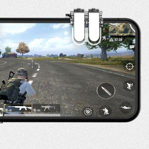 Image 2 - 1 ペア左右ゲームトリガー火災ボタン目的キーゲームパッドアクセサリーのためpubg携帯電話ゲームシューティングゲームコントローラジョイスティック