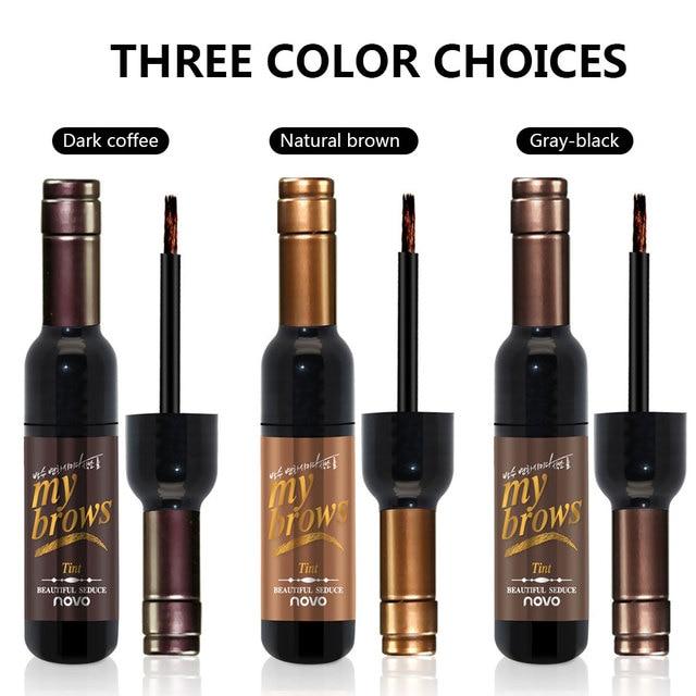 Dighealth Eyebrow Dye Makeup Tools Peel Off Eyebrow Stencil Long Lasting Natural Waterproof Eyebrow Gel Tint Tattoo Mascara 3