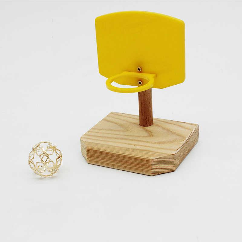 BIRD Chew การฝึกอบรมบาสเกตบอลของเล่นตลกนกแก้ว Foraing ของเล่นที่น่าสนใจ Intelligence Improvement ขนาดเล็กของเล่น