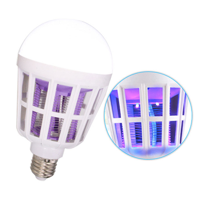 2 in 1 15W LED Bulb Mosquito Killer Lamp 220-240V Electric Trap Mosquito Killer Light for outdoor camping Night sleepping lamps 2