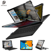 DUX DUCIS Flip Wireless Keyboard Case for iPad Pro 11 2018 Bluetooth Keyboard Tablet Cover for iPad Pro 11 with Pencil Holder