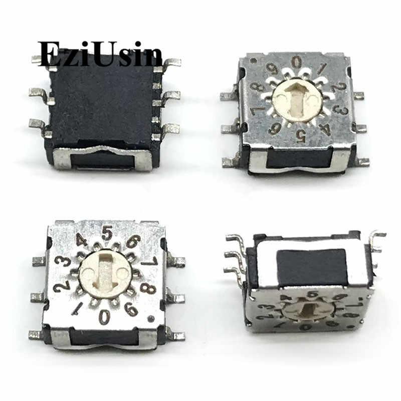 7*7 0 9 10 поворотный переключатель для кодирования DIP 6 штифтов мм хвостовик 3:3 R7M3 10R