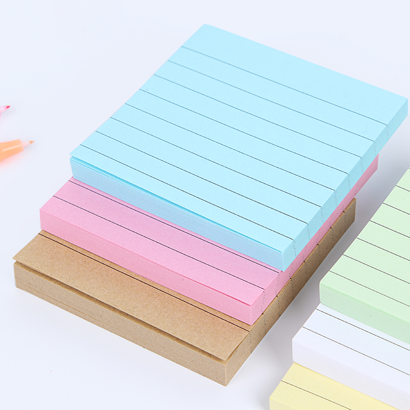 1pcs/set Solid Color Memo Pad Office Stationery Sticky Notes , 80 Pages Sticker Bookmark Marker Square Memo Sticker