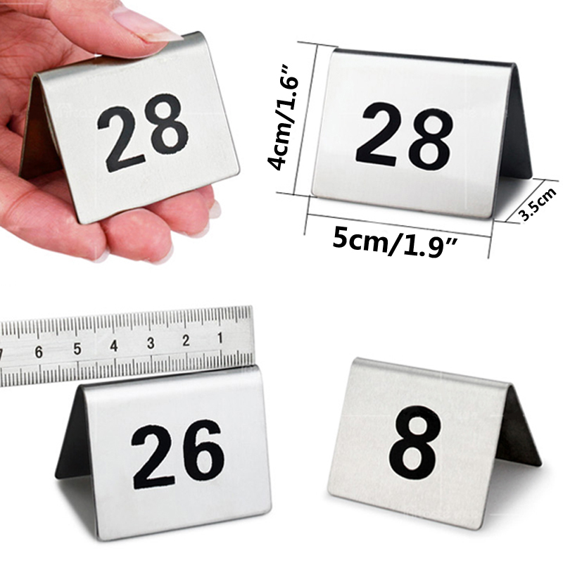 Small Table Numbers 1