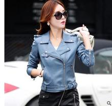M/3Xl Women Leather Clothings Female Slim Leather Jacket Womens Motorcycle Clothing Outerwear Leather Jackets Coats Tops J1656-4