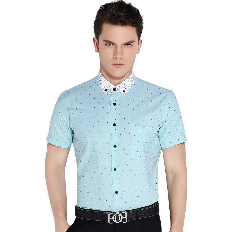 CAIZIYIJIA-Summer-2016-Men-Short-Sleeve-Fish-Bone-Pattern-Casual-Shirts-Contrast-Color-Comfort-Soft-Slim (8)