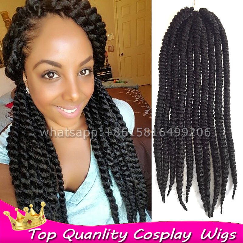 12 24 Afro Marley Curly Crochet Twist Jumbo Kanekalo Braiding Hair