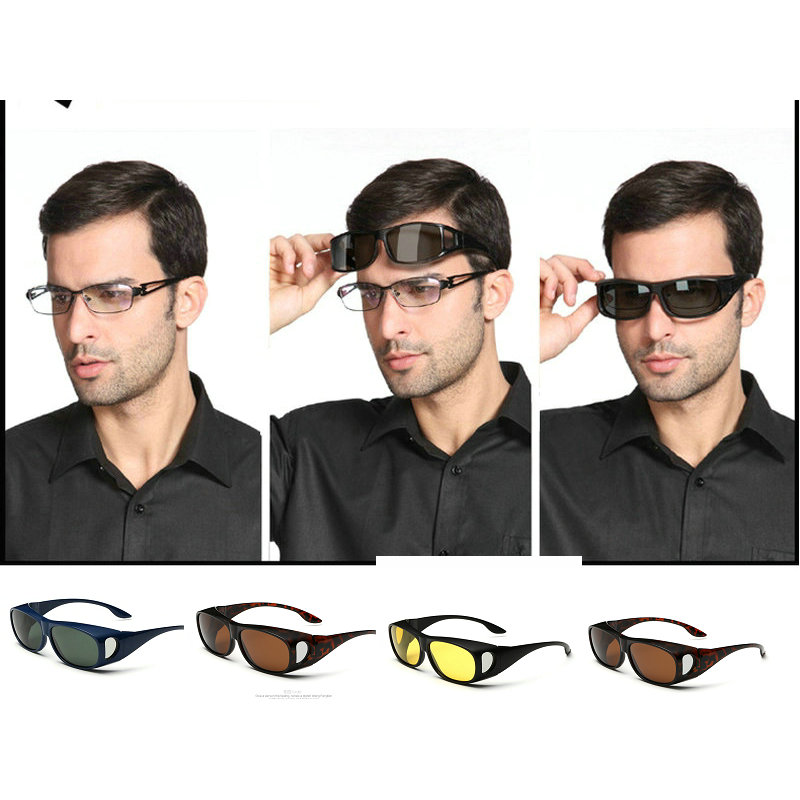 MEN Glasses Polarized  mens wraparound Sunglasses MALE Blue MIRROR Polished