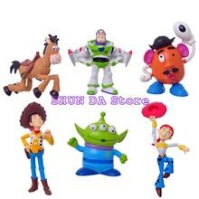 6 unids set juguete historia 3 Sheriff Woody Buzz Lightyear Jessie Pvc  muñeca figura de acción de colección modelo de juguete Ju. c6ab73719d7