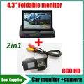 4.3 дюймов авто монитор + пзс-hd вид сзади автомобиля парковочная камера для Ssangyong Kyron Rexton Korando Actyon камера заднего вида