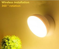 360 stopni magnetyczny bezprzewodowe lampy ścienne ruchu na podczerwień indukcyjna lampa LED  noc  lekki Auto On Off akumulator oświetlenie do sypialni w Oświetlenie nocne LED od Lampy i oświetlenie na