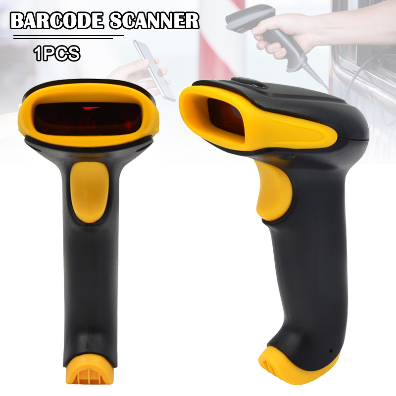 Newly Handheld USB Wired Barcode Scanner Automatic 1D 2D QR Code Reader Scanning Tool  DC128