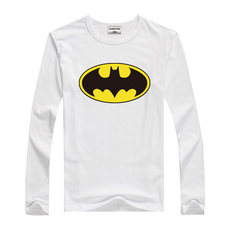 DMDM PIG Toddler Boys Tshirts Girl Tshirt Children Tops Long Sleeve T Shirt For Boys Kids Batman Superman Clothes 2 3 5 8 Years 16