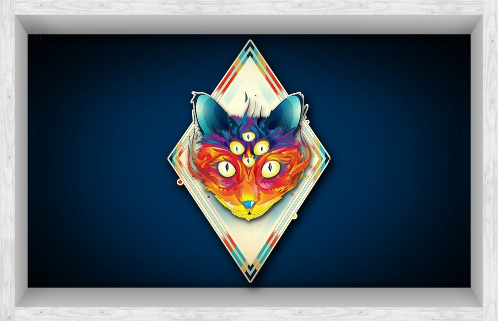 fox head symbol 3d peel and stick waterproof non slip pvc bathroom floor stickers wall stickers decals for kids 2283 x 3543