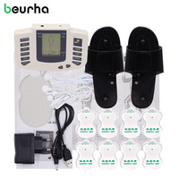 Beurha Electrical Muscle Stimulator Russian Button Therapy Massager Pulse Tens Acupuncture Full Body Massage Relax Care