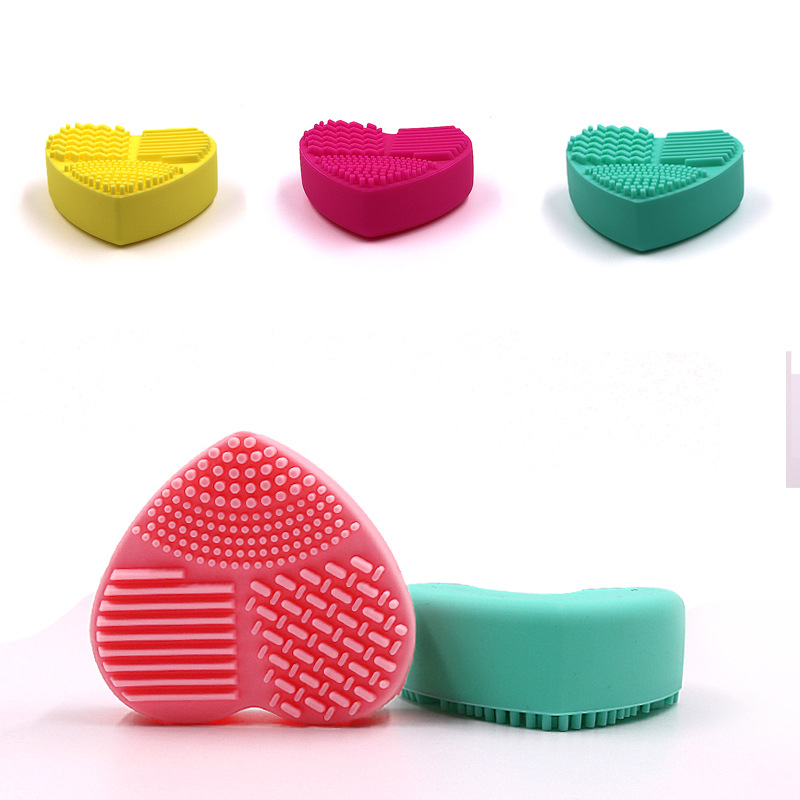 Professional Makeup Brush 2PCS Silicone Fashion Egg Cleaning Glove Washing Drying Scrubber Tool Cleaner