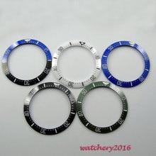 Hot wysokiej jakości 39.9mm czarny niebieski zielony ceramiczna ramka szkiełka zegarka wkładka (5 kolor wybrany) wykonane dla 44mm mechanizm automatyczny zegarek