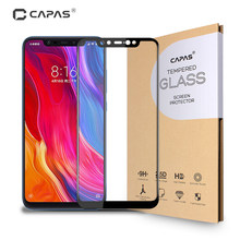 2Pcs For Xiaomi Mi 8 Tempered Glass Screen Protector Original CAPAS Mi8 Full Coverage LCD Protective Film Anti-explosion 9H 2.5D(China)